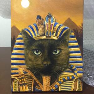 Funny Cat Portrait Pharaoh