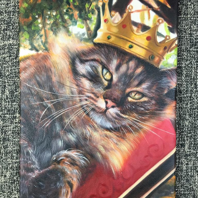 cat portrait queen