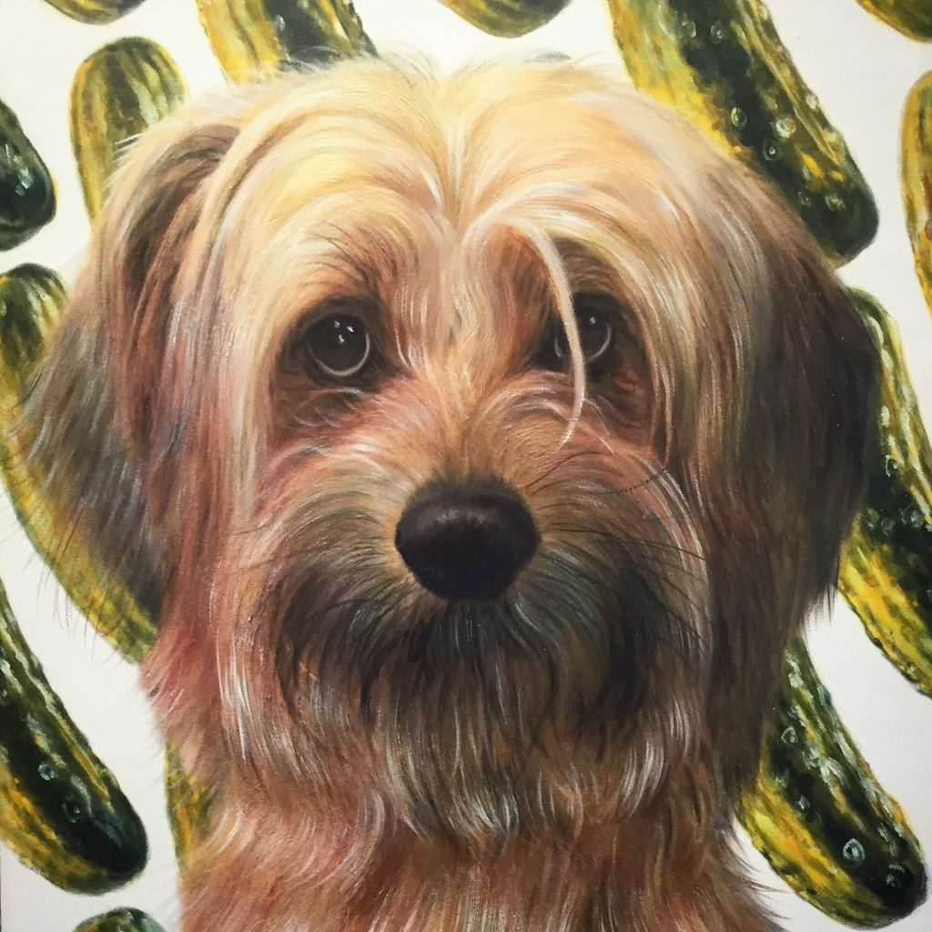 Custom Dog Portrait, Custom Pet Painting,  Funny Painting