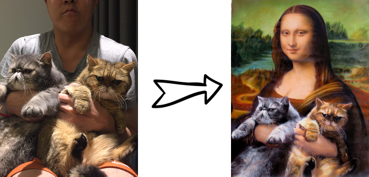 Mona Lisa cats
