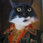 Splendid Beast Czar oil portrait template with cat