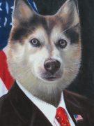 Patriotic Dog Painting USA flag