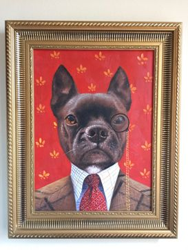 Ben's Dog Gizmo Splendid Beast Oil Painting