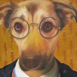 Dog Portrait as Harry Potter