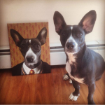 Dog Posed with Harry Potter Painting