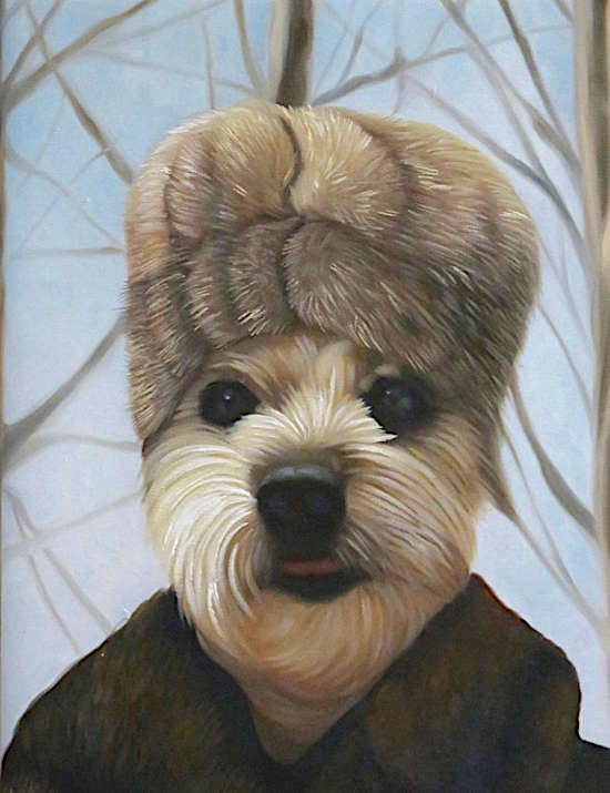 Dog Portrait as a Russian