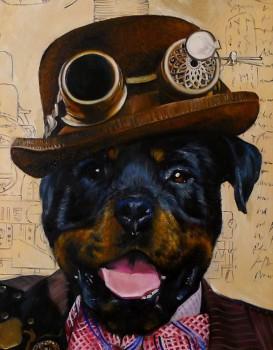 Steampunk Dog Splendid Beast - Big