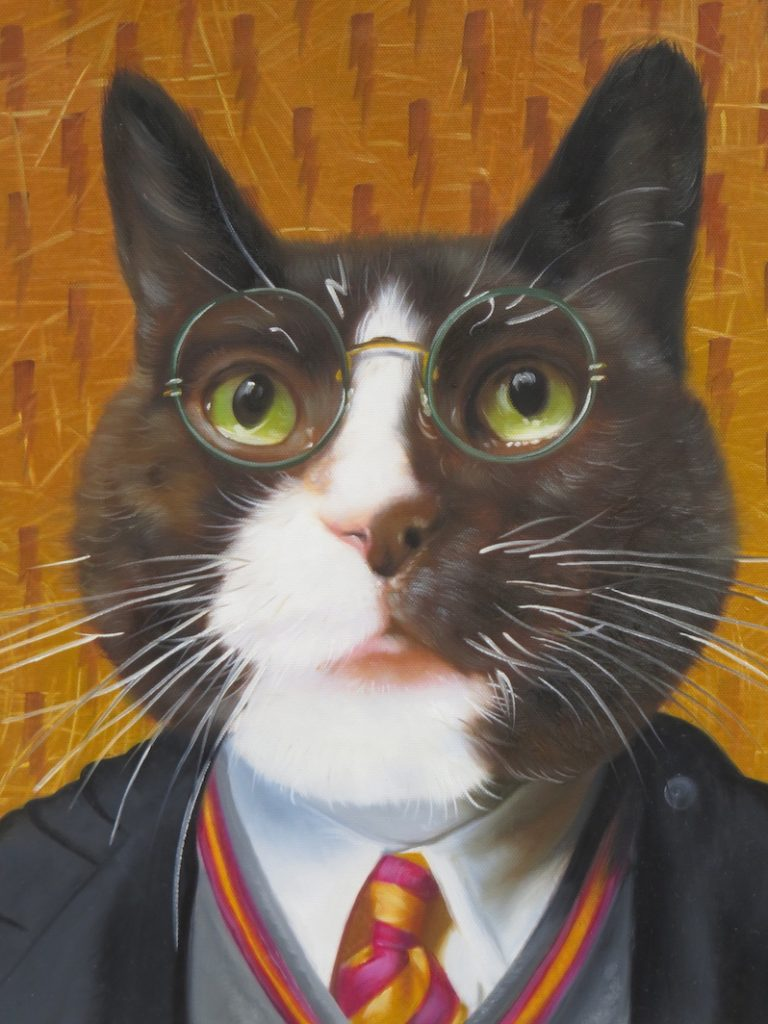 Harry Potter Cat Oil Painting Template