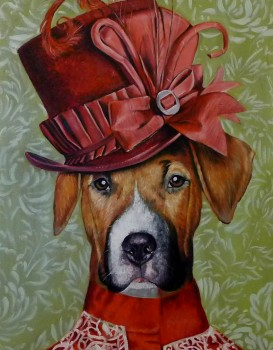Dog Portrait Victorian