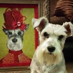 Pet Dog Portrait as Victorian