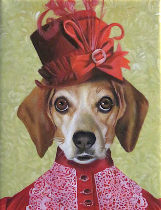 Pet Dog painted like a Victorian