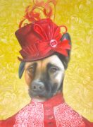 Dog Portrait Oil Painting Victorian