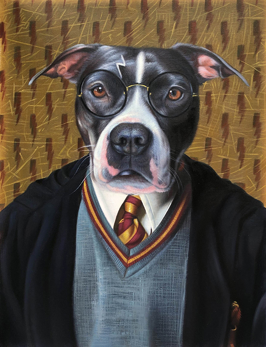 harry potter dog painting splendid beast