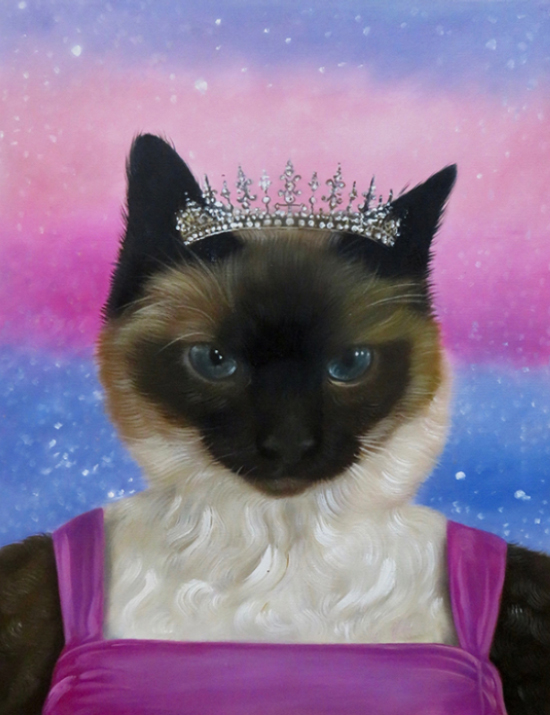 princess custom cat painting