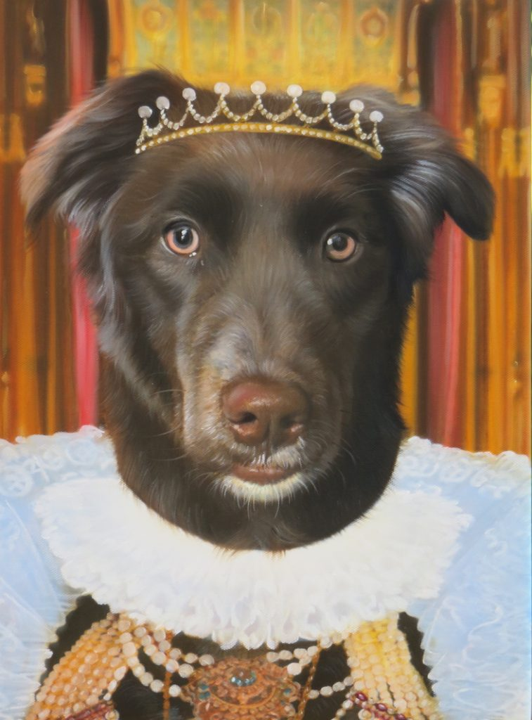 Royalty Dog Painting