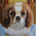 Royal Dog Painting Splendid Beast