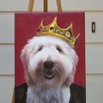 Dog Painting on Easel
