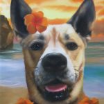 Splendid Beast Hawaiian Pet Painting Template Dog Portrait