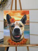 Hawaiian Splendid Beast Template Painting on Easel