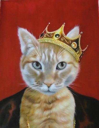 the majesty splendid beast royal pet portrait pet