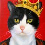 Royal Cat Painting Splendid Beast