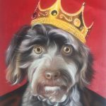 Dog painted as royalty