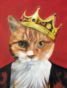 Majesty Pet Painting Royalty with Crown from Splendid Beast
