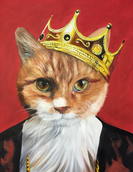 Royal Cat Painting Splendid Beast Majesty