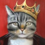 royal cat oil painting