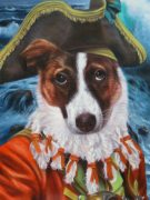 Dog Painting as Pirate