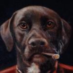 Custom Dog Playing Poker Pet Painting