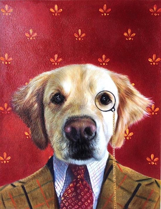 Scholarly Dog Portrait