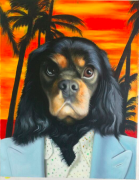 Dog Painting Miami Background Scarface