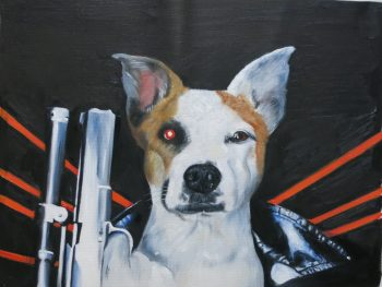 Terminator Dog Painting by Splendid Beast