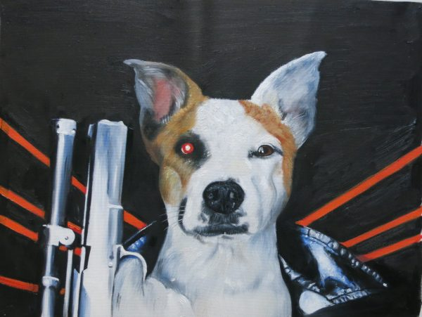 Terminator Dog Painting by Splendid Beast