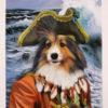 pirate dog pet painting
