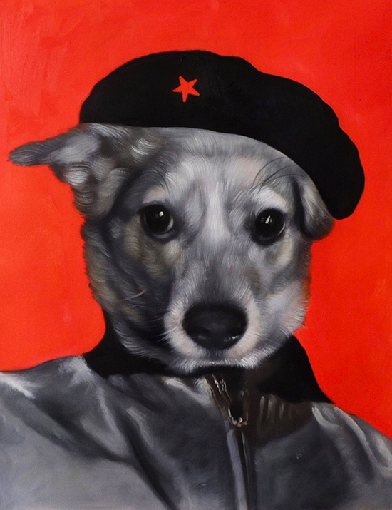 revolutionary painting dog portrait splendid beast
