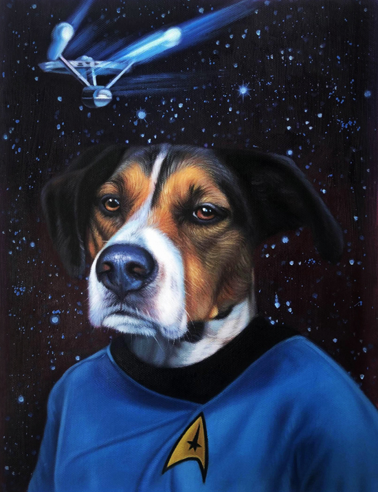 star trek painting dog splendid beast