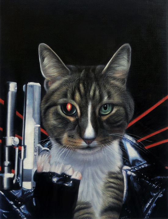 terminator artwork cat painting splendid beast