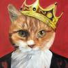 the majesty orange cat painting