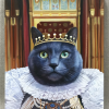 the queen cat painting