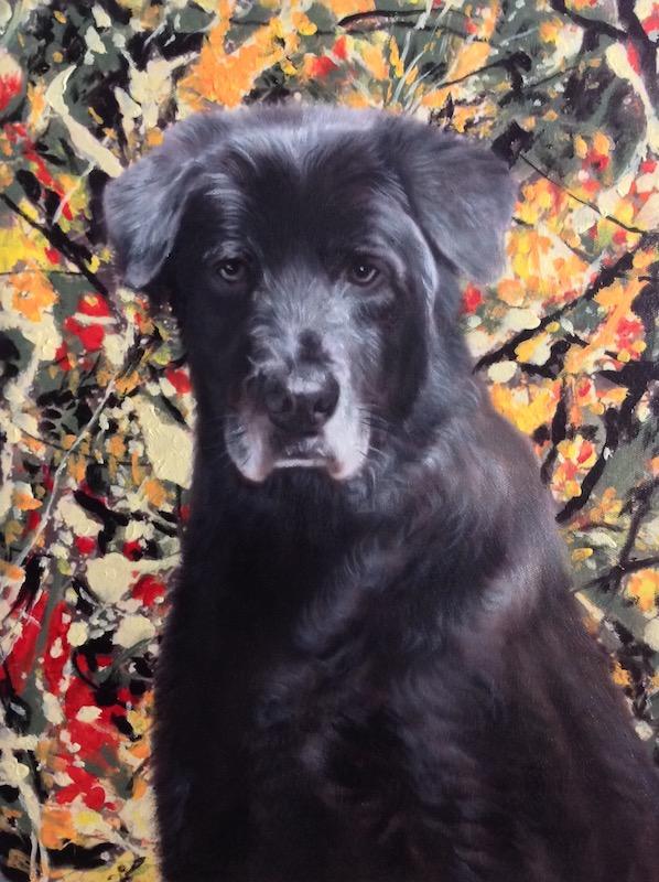 Modern Art Dog Oil Painting