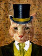 Splendid Beast Cat Pet Portrait Painting Template