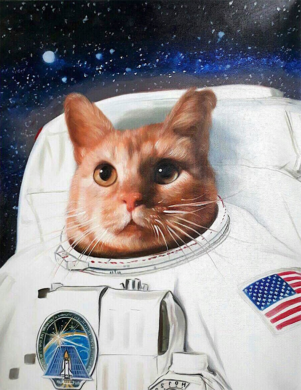 Astronaut Cat & Astronaut Dog Paintings | Must See to Believe!