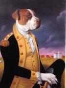 Washington Dog Painting