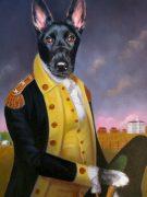 Dog Art Washington Oil Painting