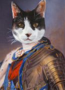 Cat Painted as Royal Monarch Portrait