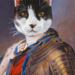 Cat Painted as Royal Monarch Portrait