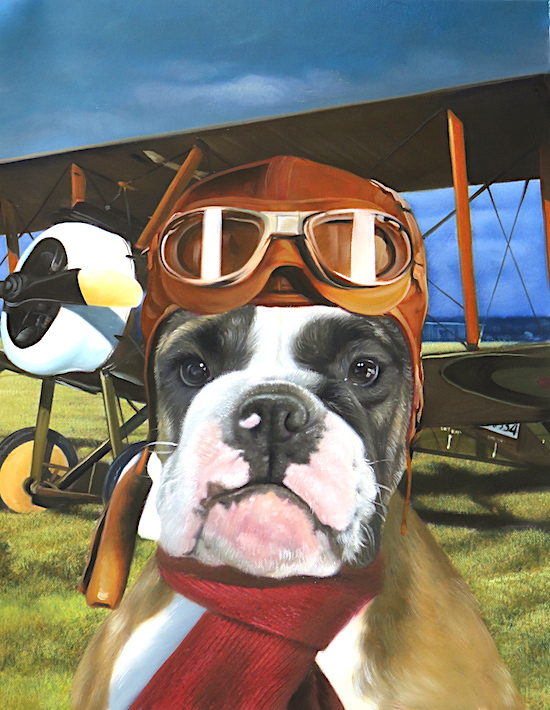 Dog portrait as pilot by Splendid Beast