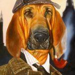 Dog Portrait as Sherlock Holmes